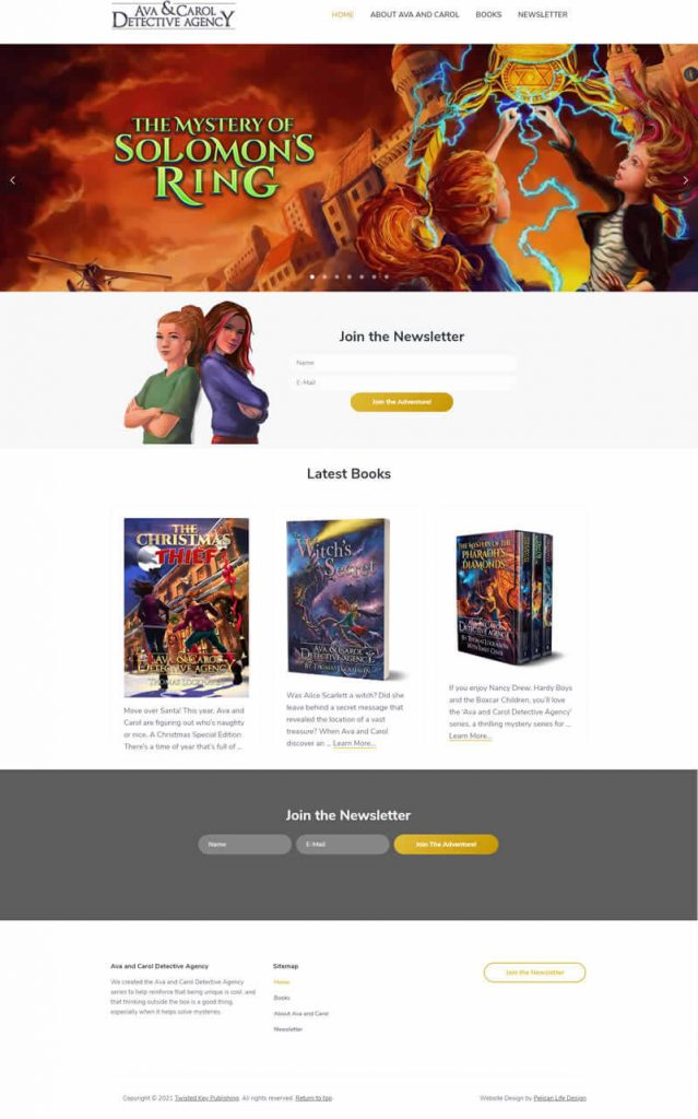 Author Website Preview