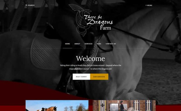 There Be Dragons Farm Website